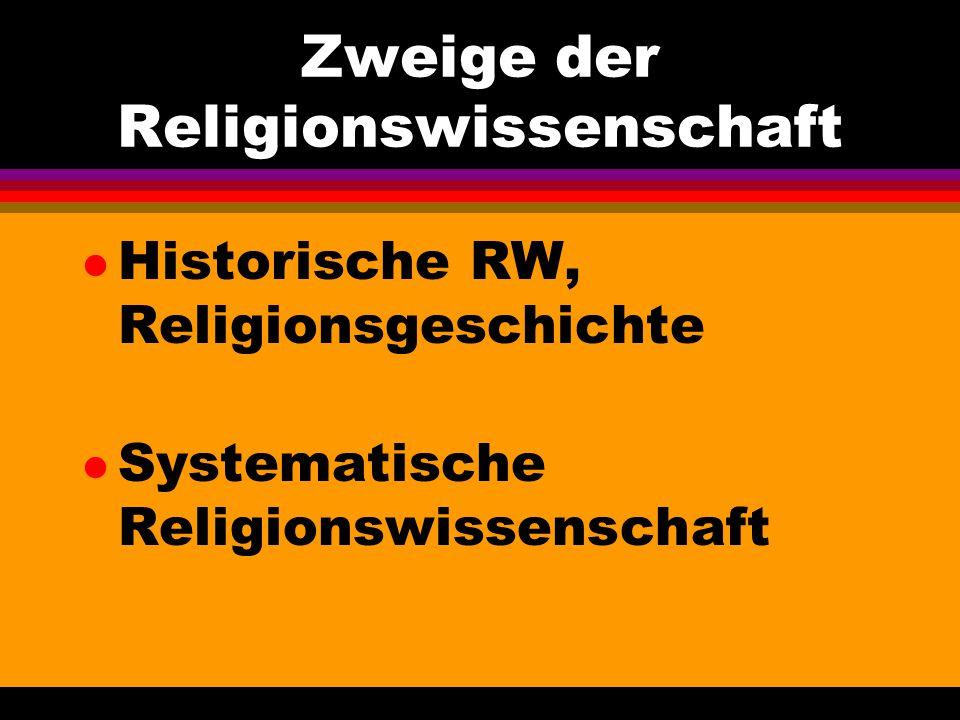 Zweige der Religionswissenschaft
