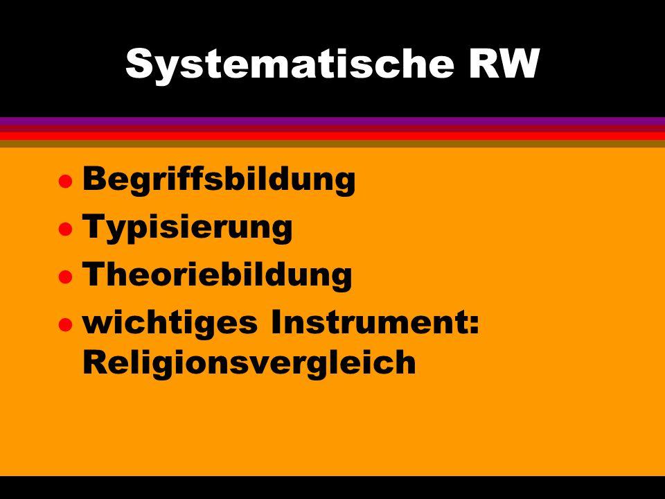 Systematische RW Begriffsbildung Typisierung Theoriebildung