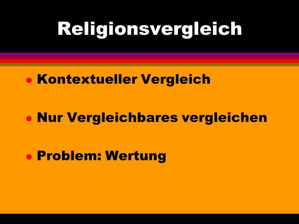 Religionsvergleich Kontextueller Vergleich