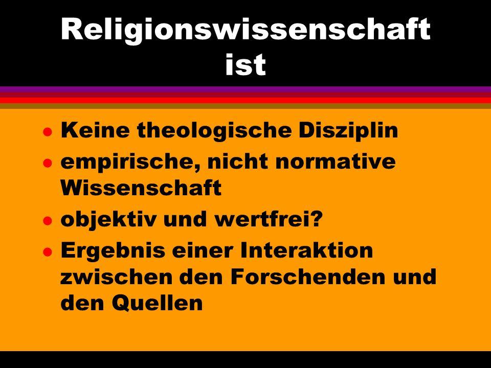 Religionswissenschaft ist