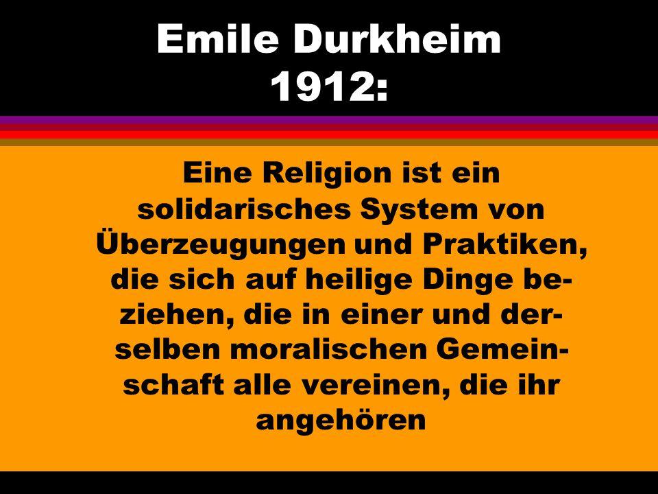 Emile Durkheim 1912: