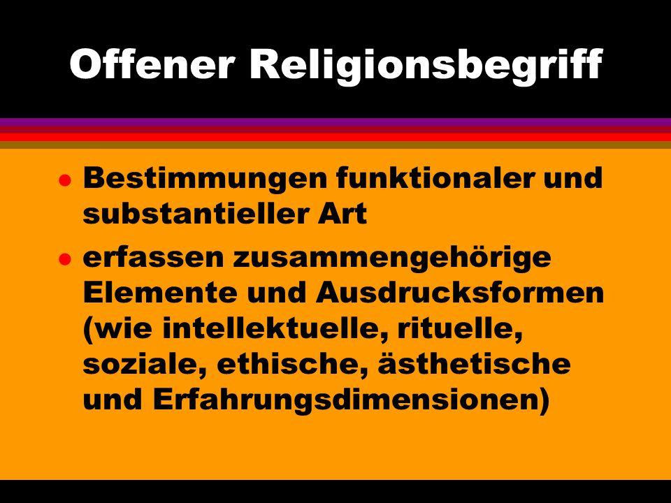 Offener Religionsbegriff