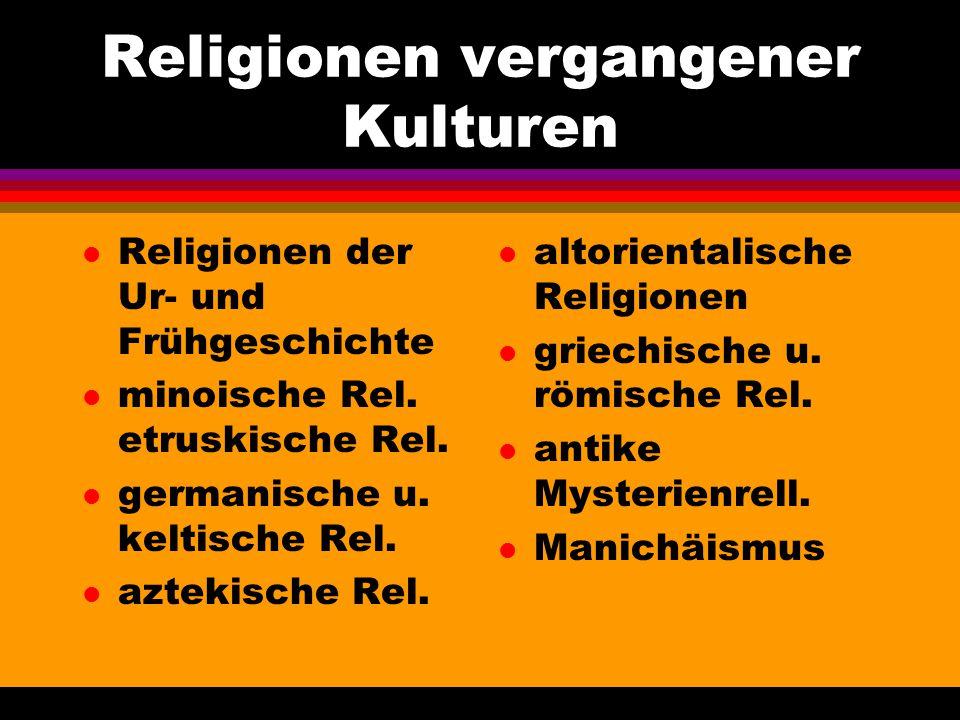 Religionen vergangener Kulturen