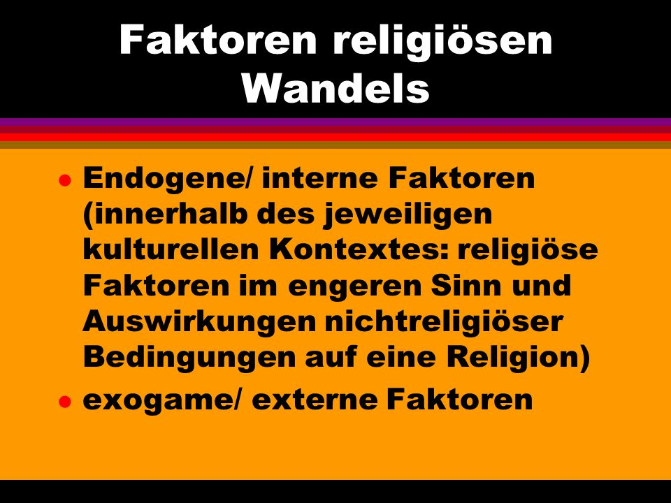 Faktoren religiösen Wandels
