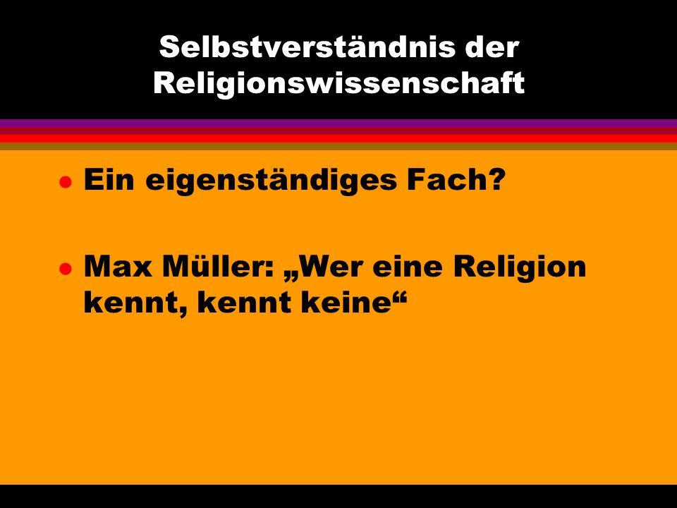 Selbstverständnis der Religionswissenschaft