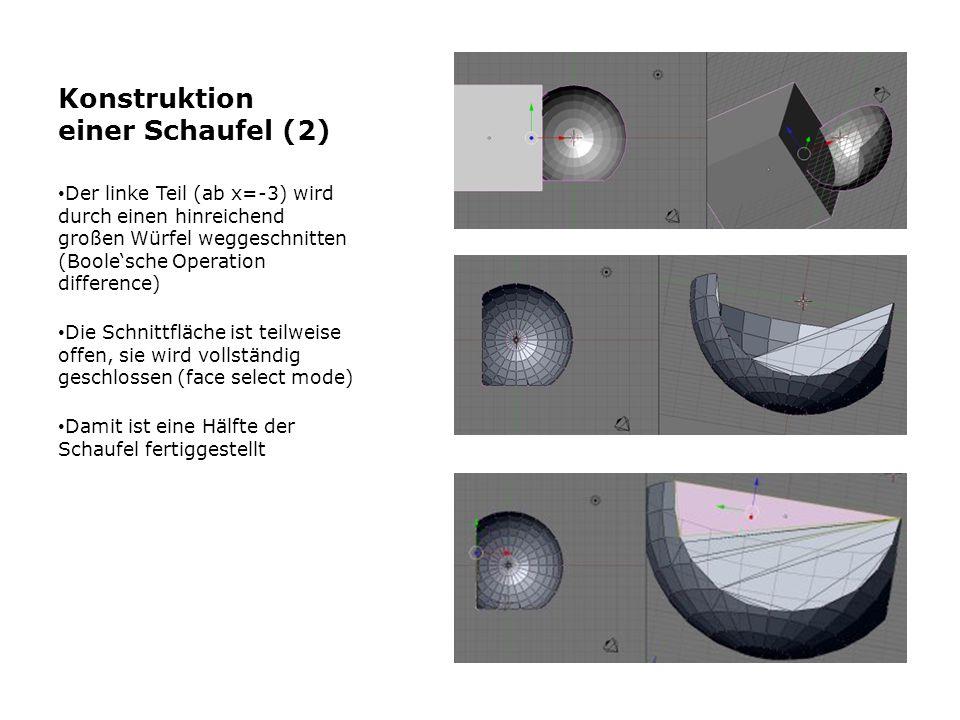 Konstruktion einer Schaufel (2)