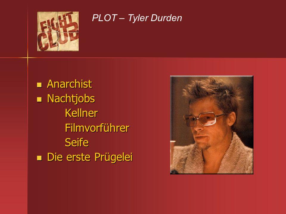 Anarchist Nachtjobs Kellner Filmvorführer Seife Die erste Prügelei