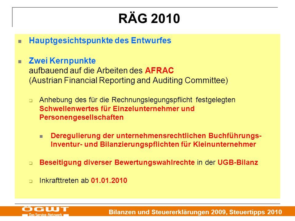 RÄG 2010 Hauptgesichtspunkte des Entwurfes
