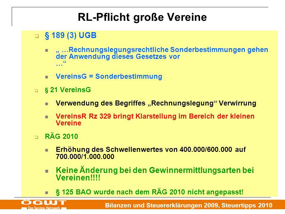 RL-Pflicht große Vereine