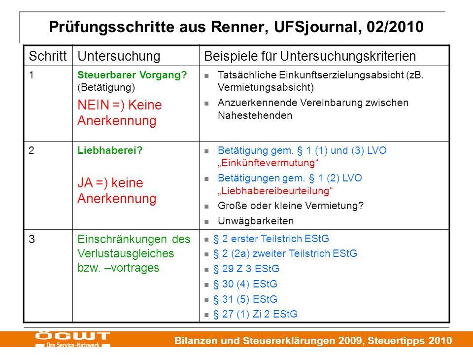 Prüfungsschritte aus Renner, UFSjournal, 02/2010