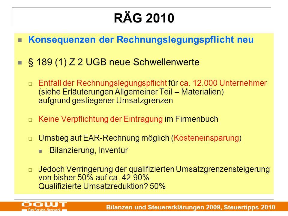 RÄG 2010 Konsequenzen der Rechnungslegungspflicht neu