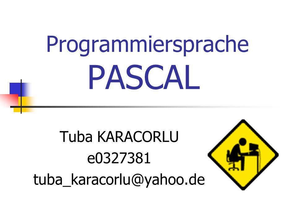 Programmiersprache PASCAL