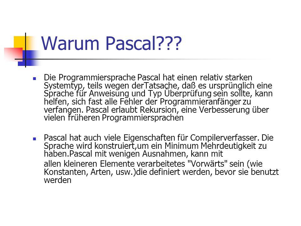 Warum Pascal