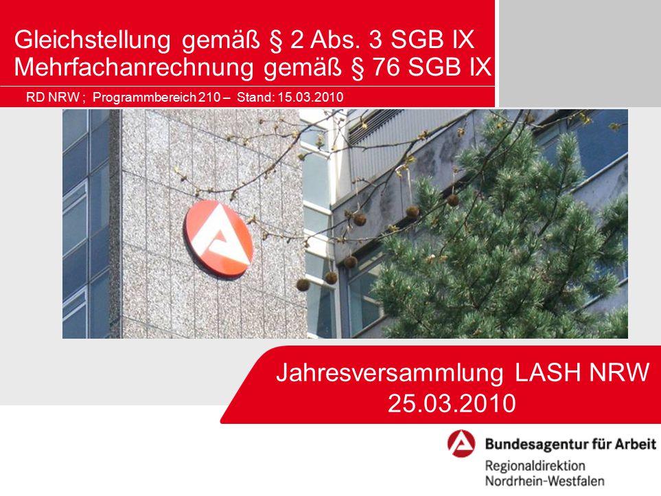 Jahresversammlung LASH NRW 25.03.2010