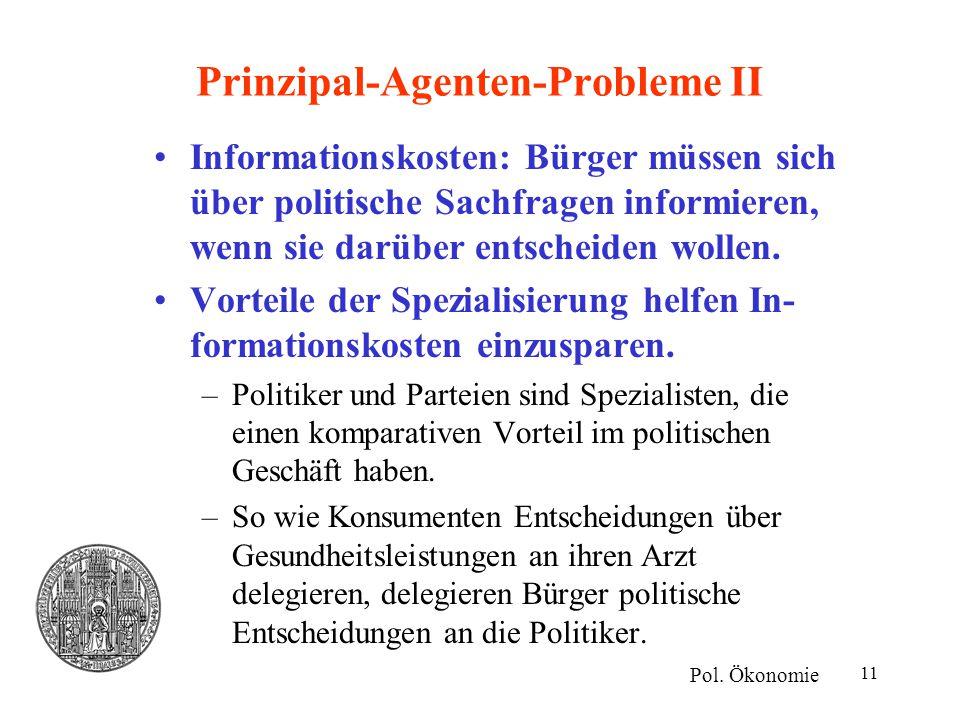 Prinzipal-Agenten-Probleme II