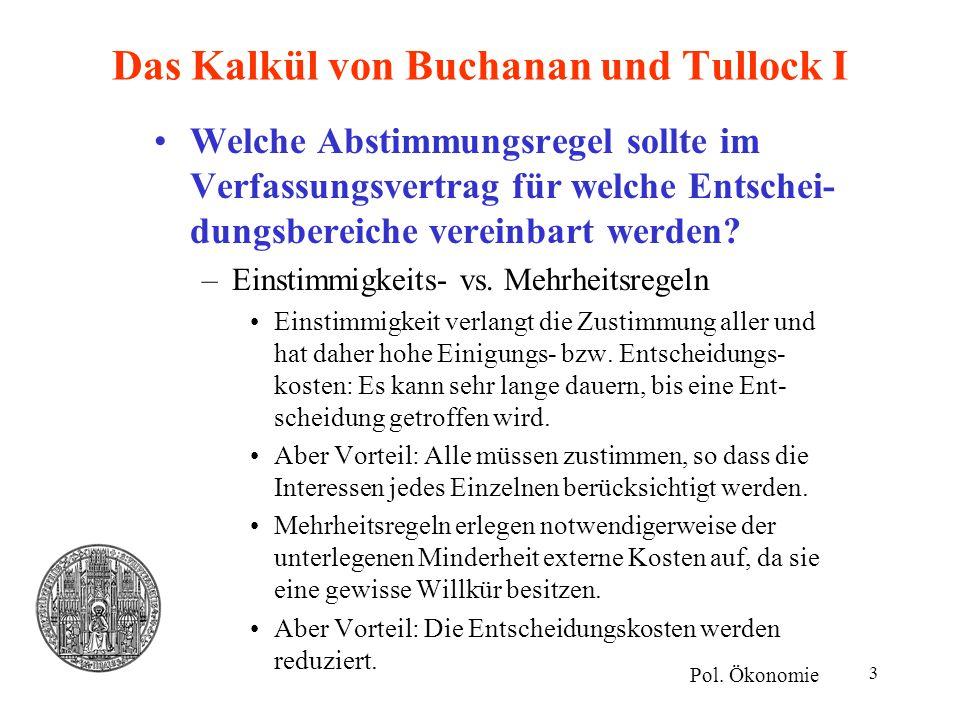 Das Kalkül von Buchanan und Tullock I