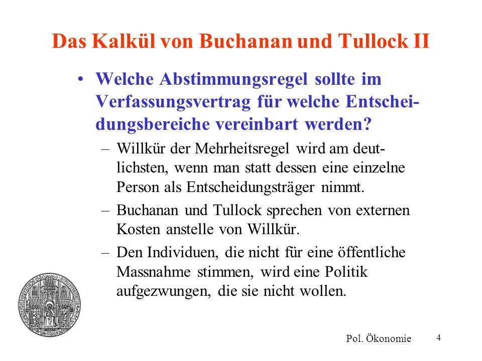 Das Kalkül von Buchanan und Tullock II