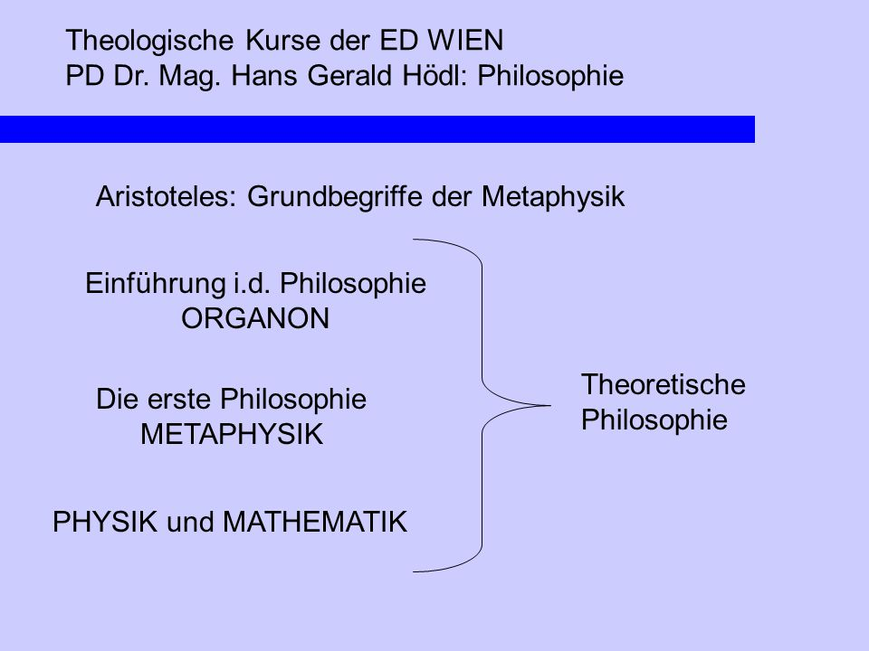 Einführung i.d. Philosophie