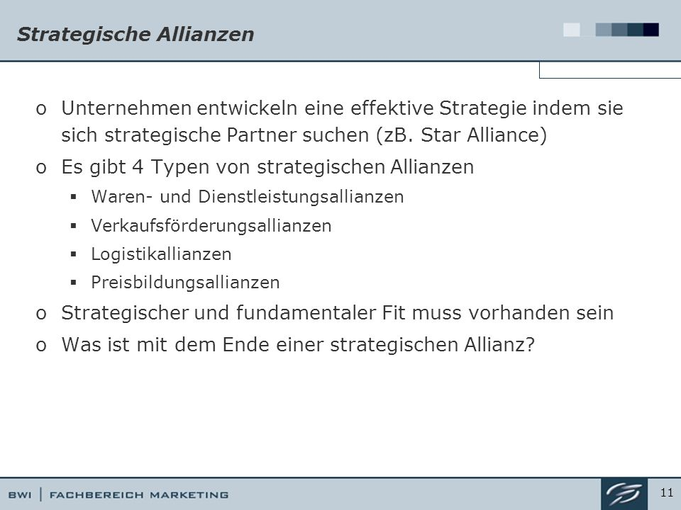 Strategische Allianzen