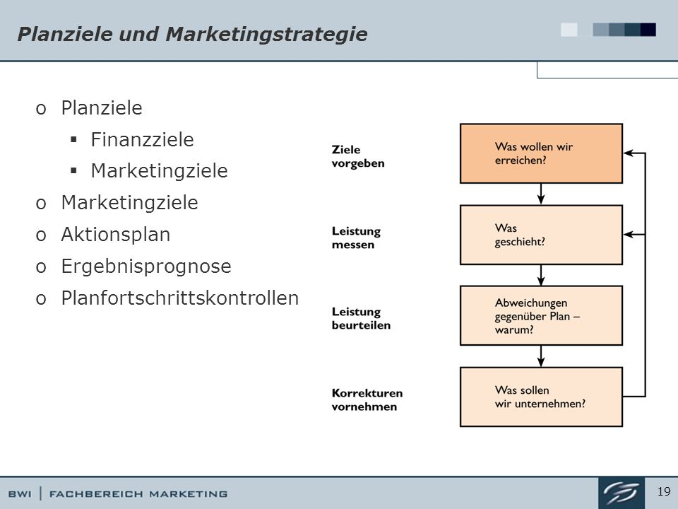 Planziele und Marketingstrategie