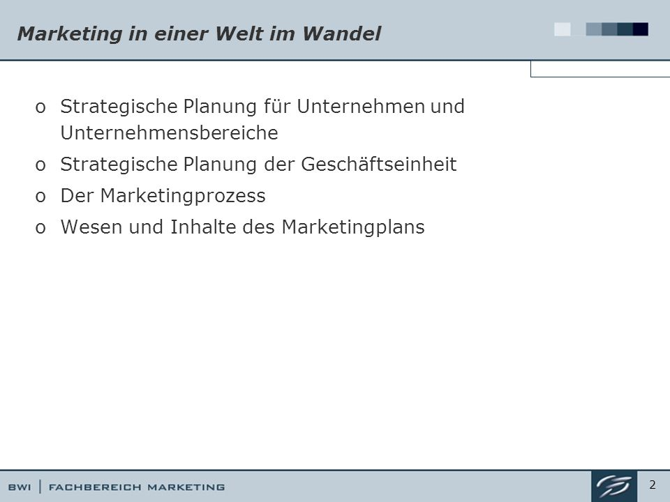 Marketing in einer Welt im Wandel