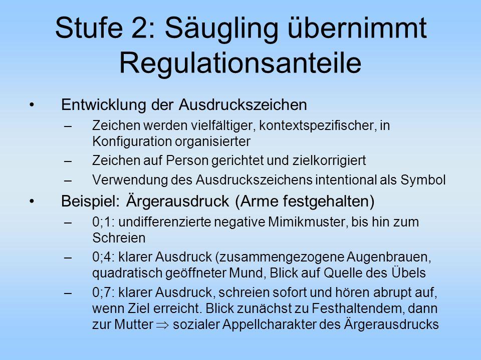 Stufe 2: Säugling übernimmt Regulationsanteile