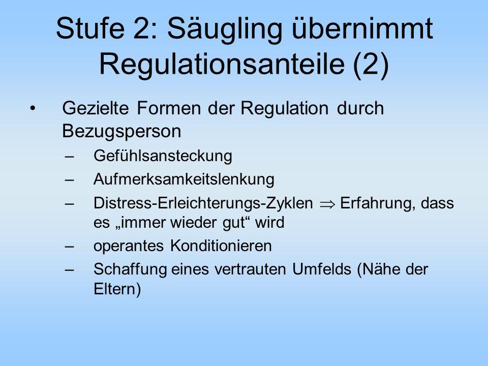 Stufe 2: Säugling übernimmt Regulationsanteile (2)