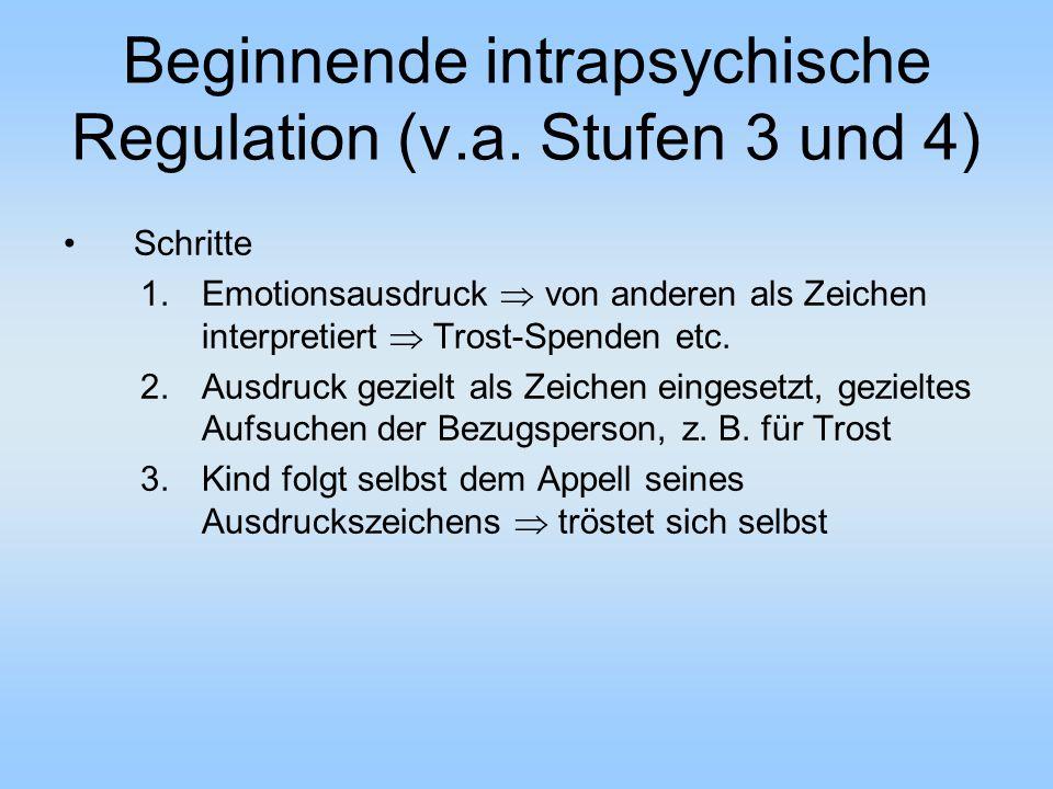 Beginnende intrapsychische Regulation (v.a. Stufen 3 und 4)