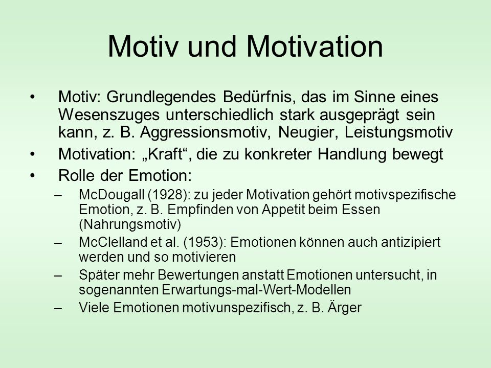 Motiv und Motivation