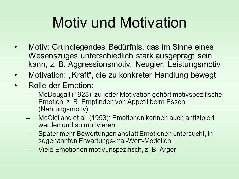 Motiv und Motivation