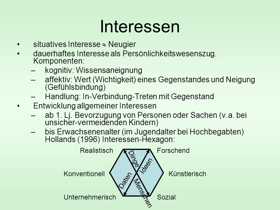 Interessen situatives Interesse  Neugier