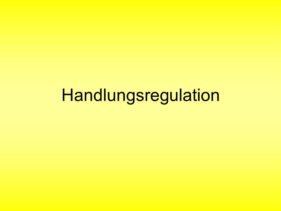 Handlungsregulation