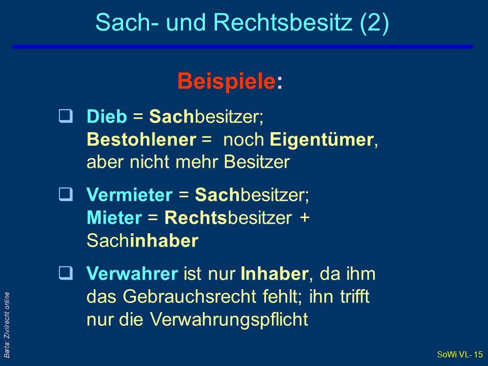 Sach- und Rechtsbesitz (2)