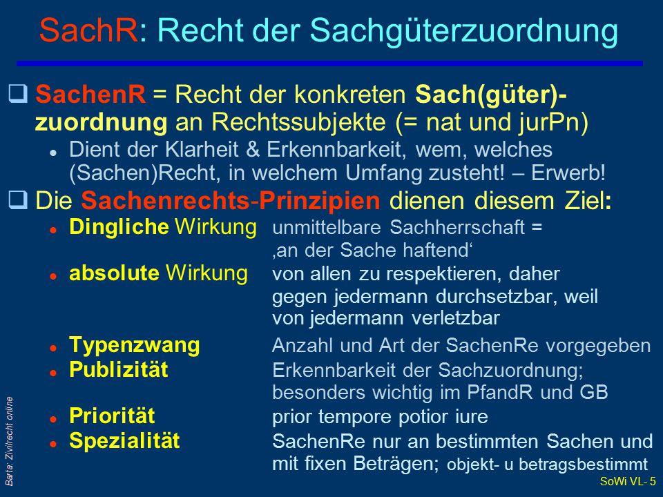 SachR: Recht der Sachgüterzuordnung