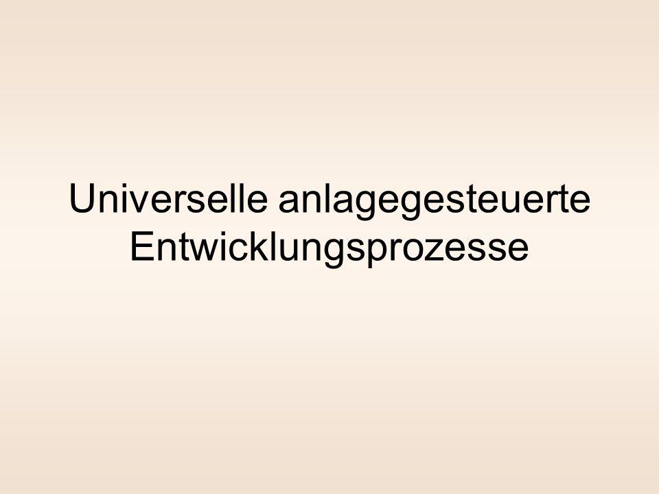 Universelle anlagegesteuerte Entwicklungsprozesse