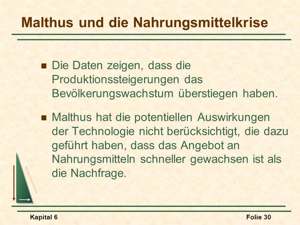 Malthus und die Nahrungsmittelkrise