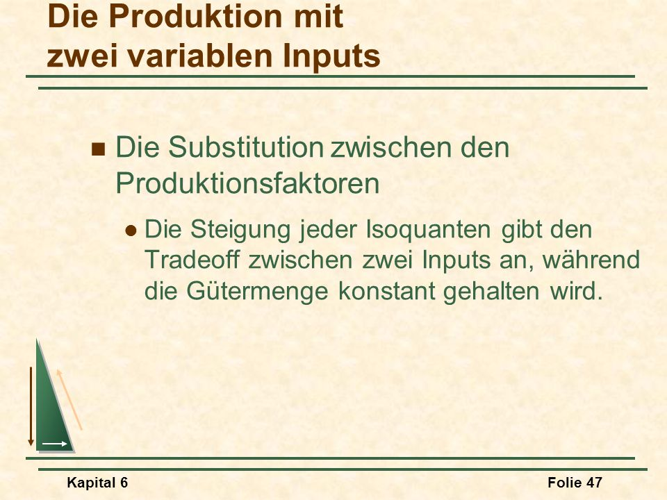 Die Produktion mit zwei variablen Inputs