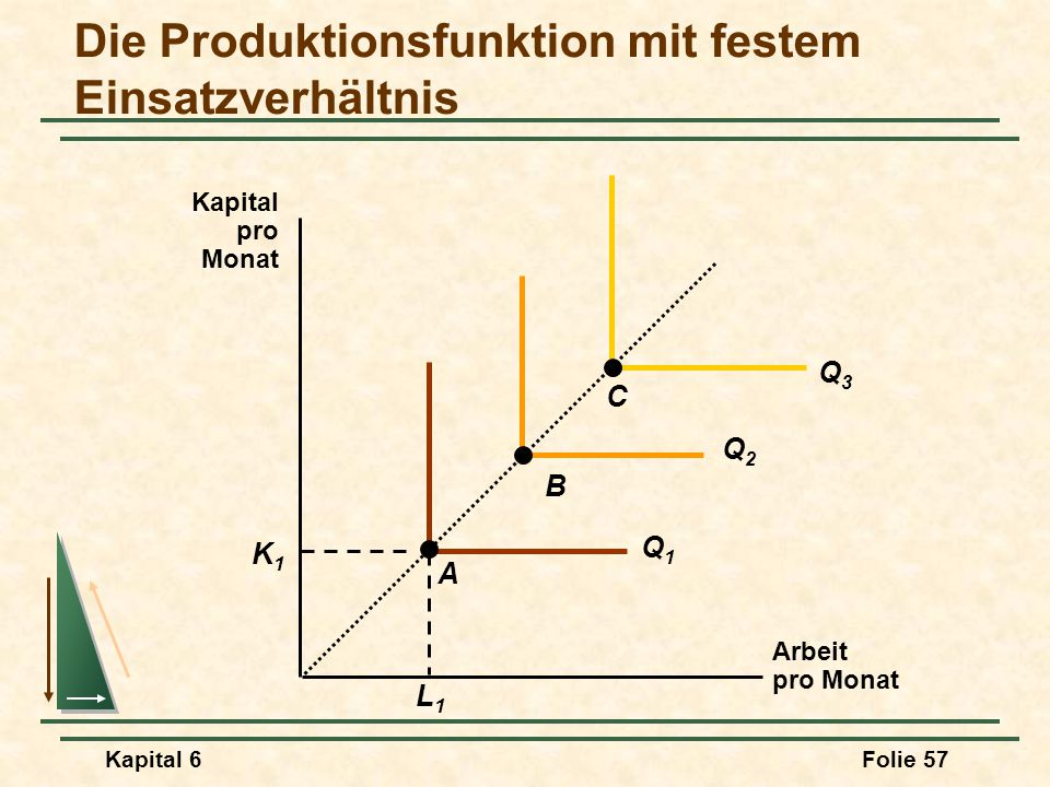 Die Produktionsfunktion mit festem Einsatzverhältnis