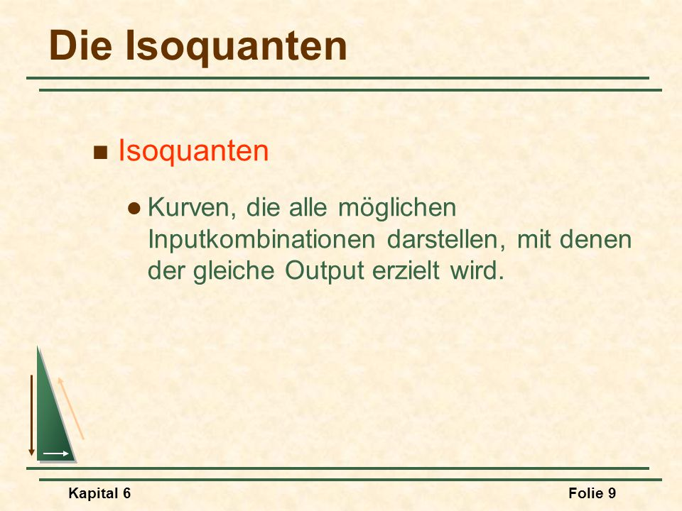 Die Isoquanten Isoquanten