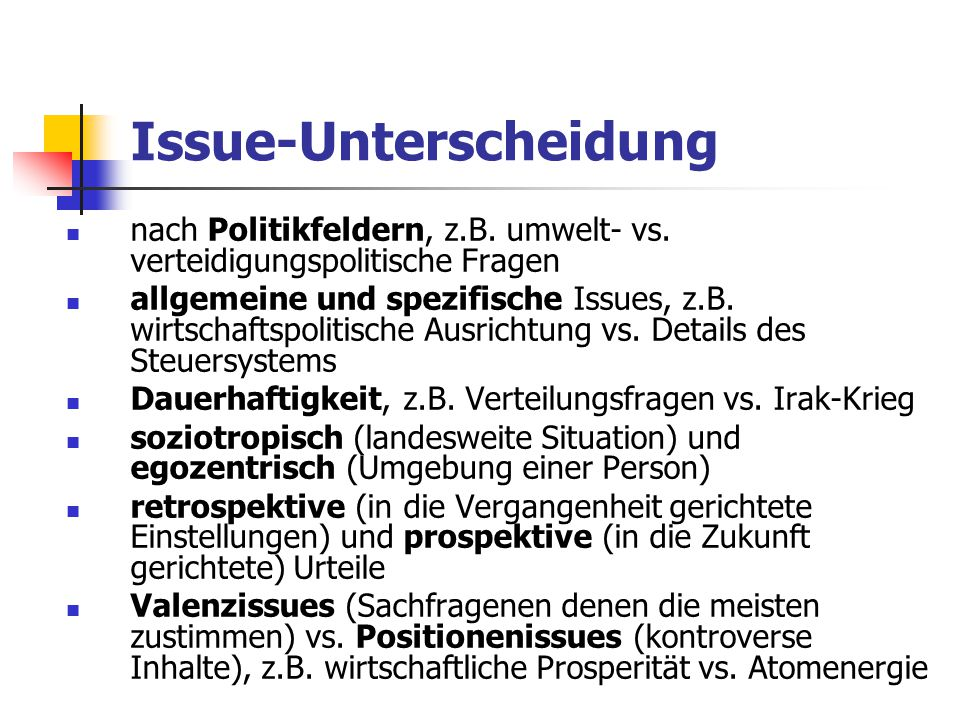 Issue-Unterscheidung