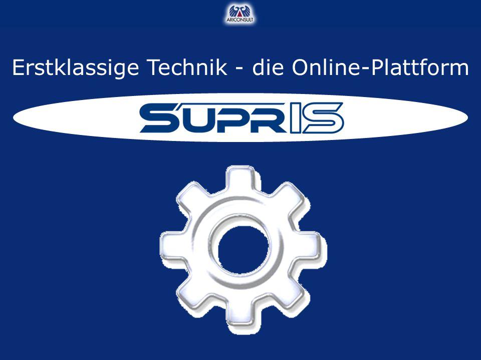 Erstklassige Technik - die Online-Plattform