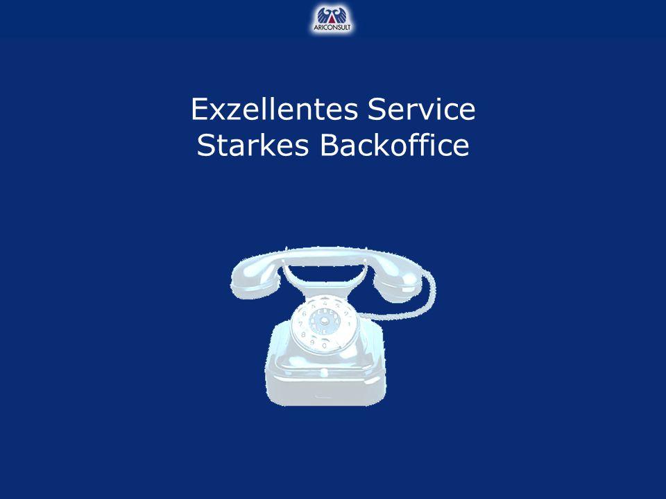 Exzellentes Service Starkes Backoffice