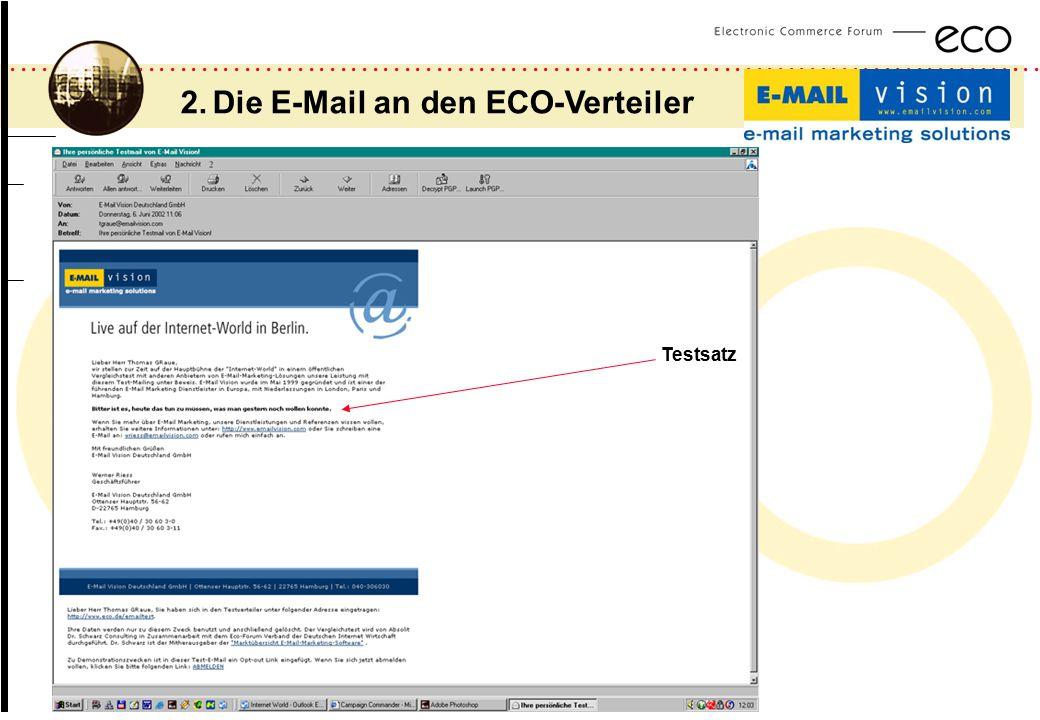2. Die E-Mail an den ECO-Verteiler
