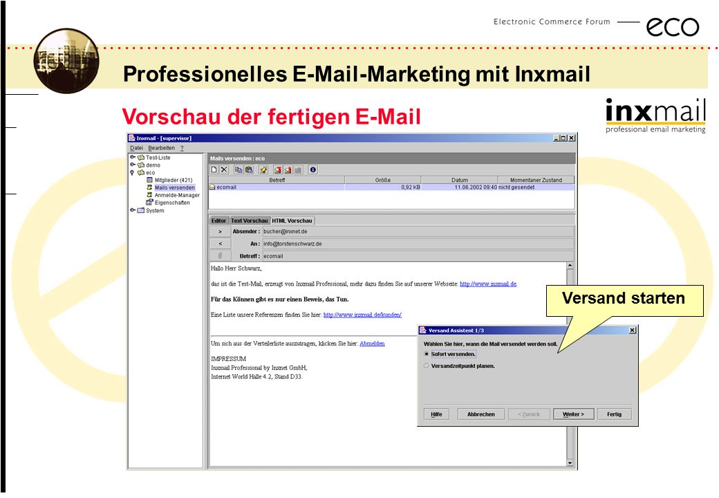 Professionelles  -Marketing mit Inxmail