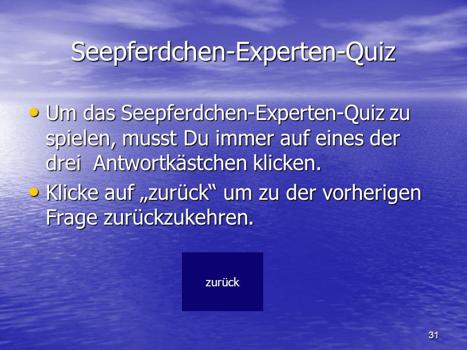 Seepferdchen-Experten-Quiz