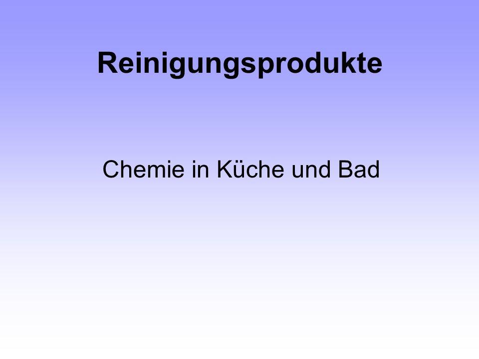 Reinigungsprodukte Chemie in Küche und Bad