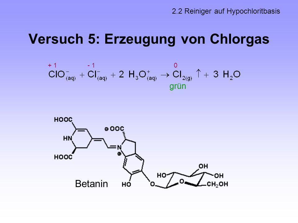 Versuch 5: Erzeugung von Chlorgas