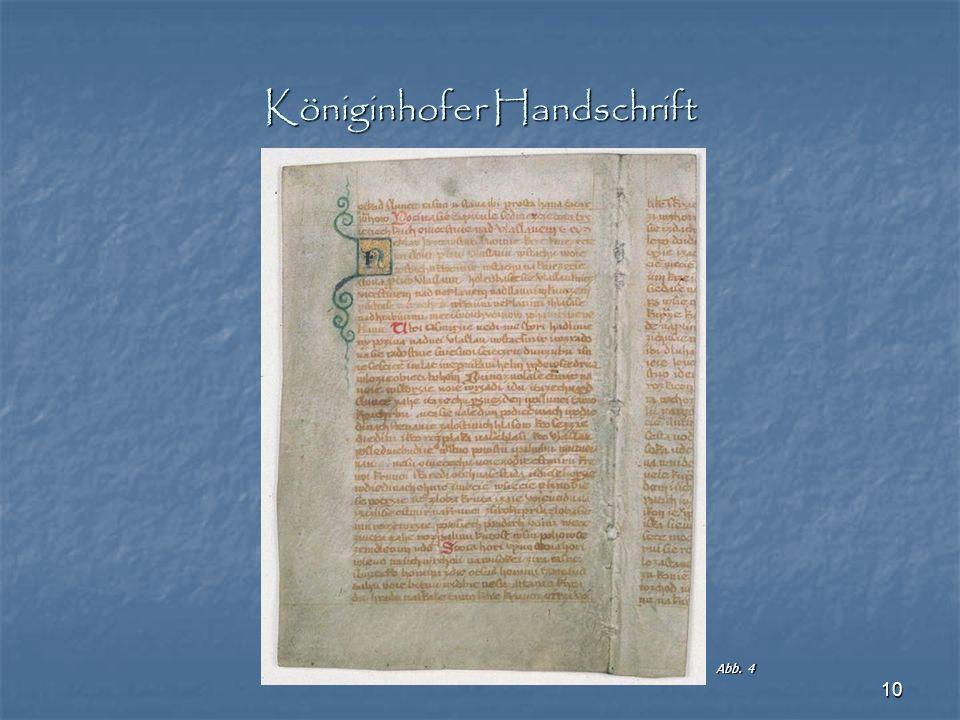 Königinhofer Handschrift