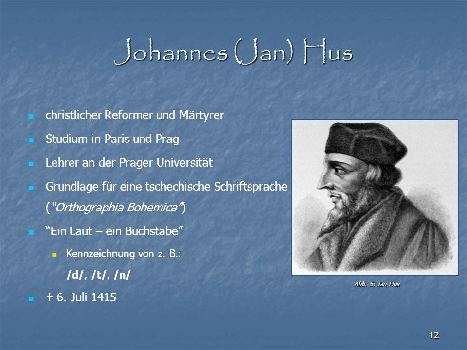 Johannes (Jan) Hus christlicher Reformer und Märtyrer