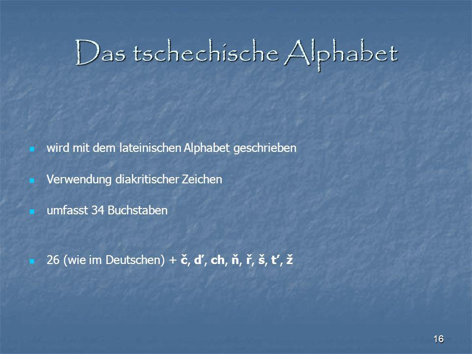 Das tschechische Alphabet